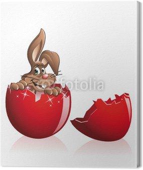 Easter bunny wewnątrz jajka
