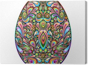 Obraz na Płótnie Easter egg psychodeliczny sztuki projektowania ozdobnych pisanka
