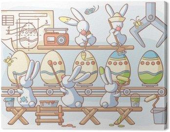 Easter rabbit fabryki produkujące barwione jajka