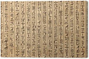 Obraz na Płótnie Egipt hieroglify, grunge szwu do projektowania