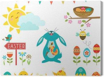 Obraz na Płótnie Elementy projektu Wielkanocny