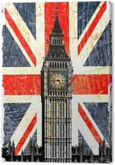 English flag Big Ben w pionie