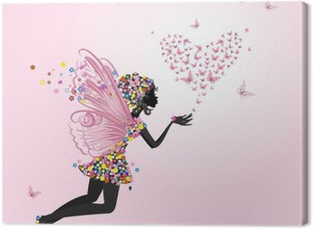 Obraz na Płótnie Fairy z valentine motyli