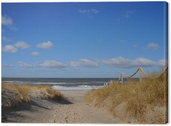 Obraz na Płótnie Fale na plaży wydmy samotne wakacje