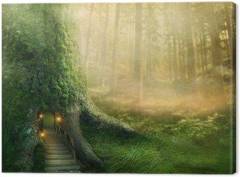 Obraz na Płótnie Fantazja domek na drzewie