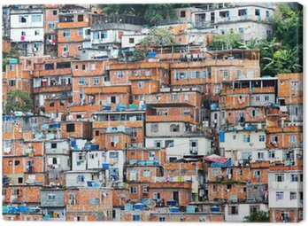 Obraz na Płótnie Favela, Brazylijczyk slumsów w Rio de Janeiro
