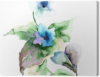 Obraz na Płótnie Fioletowe kwiaty
