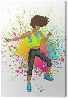Obraz na Płótnie Fitness Girl Rocks taniec Zumba