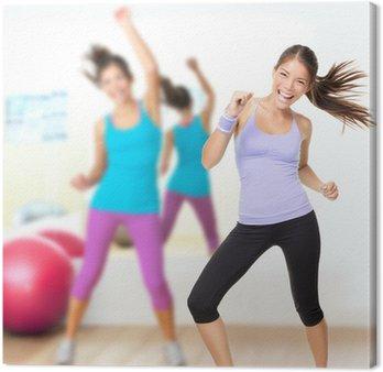 Obraz na Płótnie Fitness studio taniec zumba class
