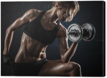 Fitness z hantlami