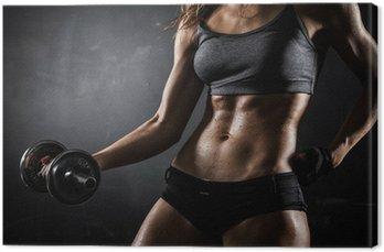 Obraz na Płótnie Fitness z hantlami