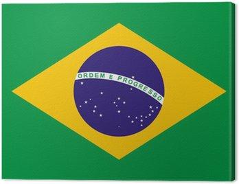 Obraz na Płótnie Flaga Brazylii