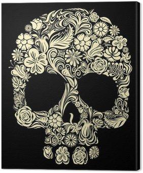 Obraz na Płótnie Floral czaszki