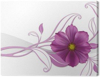 Obraz na Płótnie Floralescent Projekt z Violetta Blüte