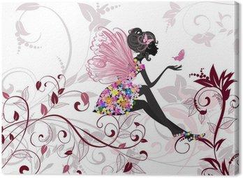 Obraz na Płótnie Flower Fairy z motyli