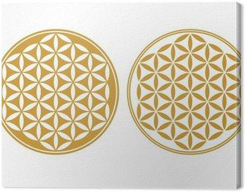 Obraz na Płótnie Flower of Life - symbol ochrony, święta geometria
