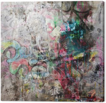 Obraz na Płótnie Fond mur grunge - Graffiti