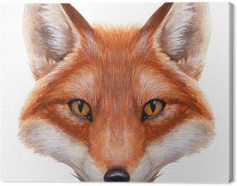 Obraz na Płótnie Fox Akwarela Portret