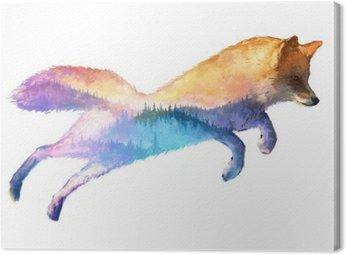 Fox podwójna ekspozycja ilustracji