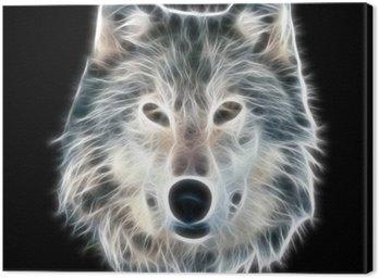 Obraz na Płótnie Fractal ilustracji wilka