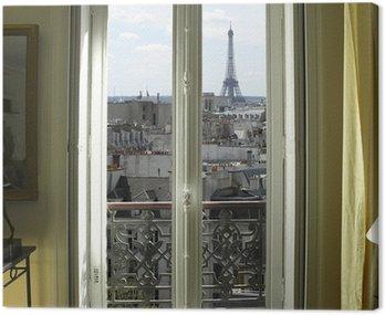 Obraz na Płótnie Francja - Paryż - Okno z wieży Eiffla i dachy Zobacz