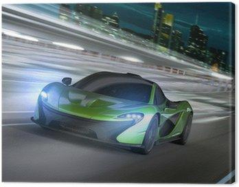 Obraz na Płótnie Frankfurt noc racer