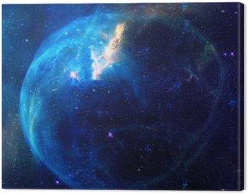 Galaxy ilustracja, obszar tła z gwiazd, mgławicy kosmos chmury