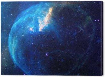 Obraz na Płótnie Galaxy ilustracja, obszar tła z gwiazd, mgławicy kosmos chmury