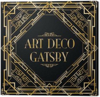 Obraz na Płótnie Gatsby tła w stylu art deco