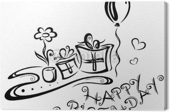 Obraz na Płótnie Geburtstag, urodziny, wektor, schwarz
