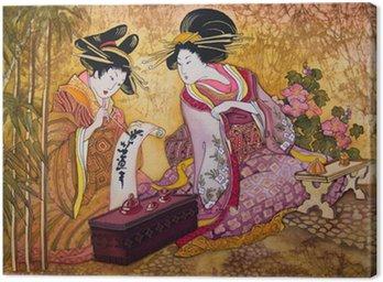 Obraz na Płótnie Geisha Japonii batik