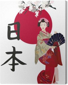 Obraz na Płótnie Gejsze i kanji