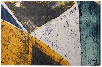 Obraz na Płótnie Geometria, gorący batik, tekstury tła, ręcznie na jedwabiu, streszczenie surrealizm sztuka