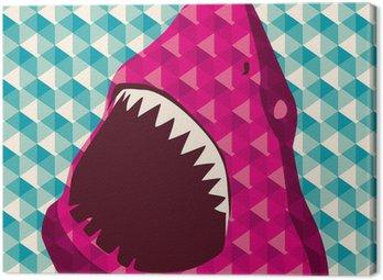 Obraz na Płótnie Geometric tło z rekina.