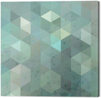 Obraz na Płótnie Geometryczna retro tle z grunge tekstury