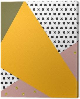Obraz na Płótnie Geometryczna tło w stylu retro.