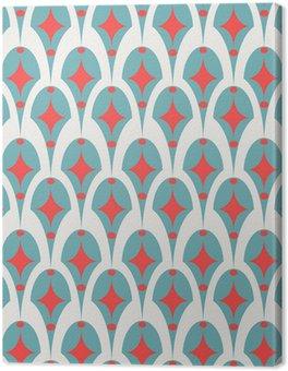 Obraz na Płótnie Geometryczne abstrakcyjne retro szwu na białym
