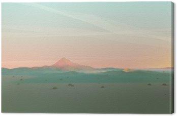 Geometryczne Górski krajobraz z gradientu niebo