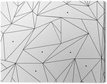 Obraz na Płótnie Geometryczne proste czarno-białe minimalistyczny wzór, trójkąty lub witraż. Może być używany jako tapeta, tło lub tekstury.