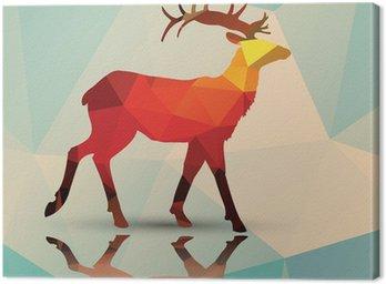 Geometryczne wielokąta jelenie, wzornictwo, wektor