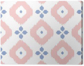 Obraz na Płótnie Geometryczny wzór bez szwu w kolorze Pantone w roku 2016. Streszczenie proste Ikat projektu. Rose Quartz i spokoju fioletowe kolory.