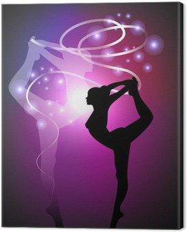 Obraz na Płótnie Gimnastyka artystyczna - Ribbon