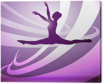 Obraz na Płótnie Gimnastyka sylwetki