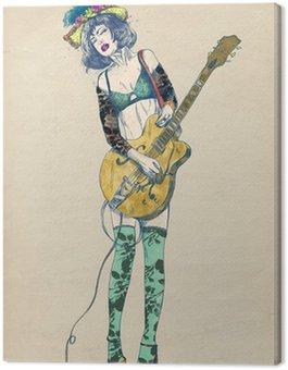Gitarzysta - ekscytujące piękno.