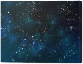 Obraz na Płótnie Głęboki kosmos lub nocne niebo gwiaździste