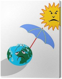 Obraz na Płótnie Globalne ocieplenie ilustracji wektorowych