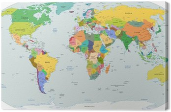 Globalnej mapie politycznej świata, wektor