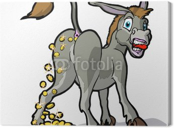 Obraz na Płótnie Goldesel cash-cow