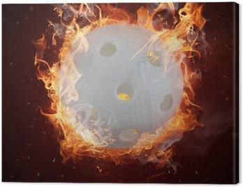 Obraz na Płótnie Gorące florball w płomienia pożary