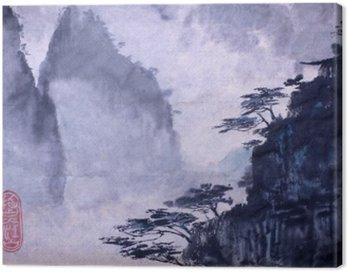 Obraz na Płótnie Góry i sosny